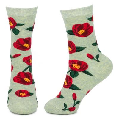 Socks (4-7) - Poppy Anemone (Light Green)