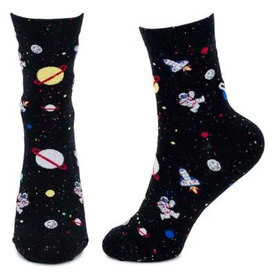 Socks (4-7) - Rocket Man (Black)