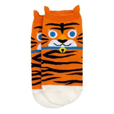 Ankle Socks (4-7) - Tiger (Orange)