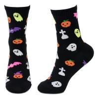Socks (4-7) - Spooky Mix (Black)
