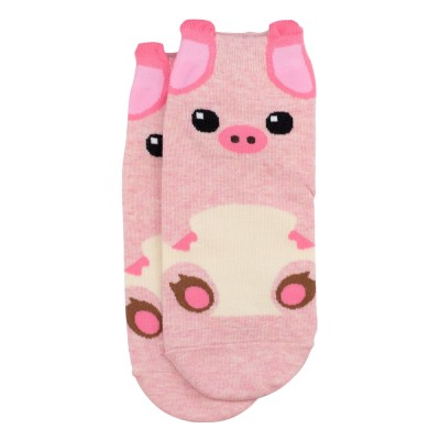 Ankle Socks (4-7) - Pink Pig