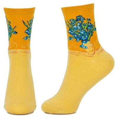 Socks (4-7) - Van Gogh - Irises - 62158 - Yellow
