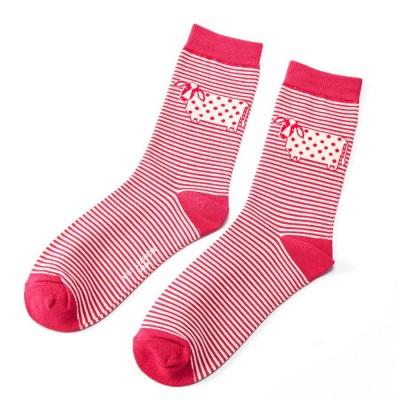 Socks (4-7) - Cute Cow Stripes-SKS123