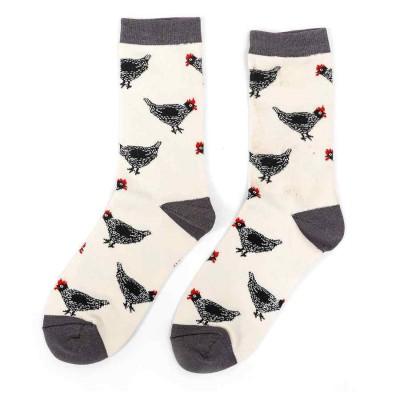 Socks (4-7) -Hens-19024 - Ivory