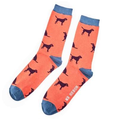 Socks (7-11) - Labradors- MH124 - Orange