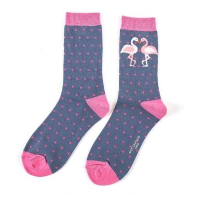 Socks (4-7) - Kissing Flamingos-SKS145