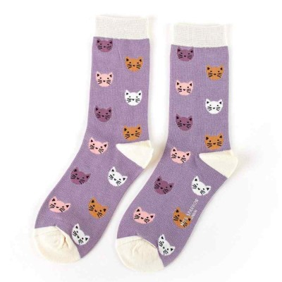 Socks (4-7) - Kitty Faces-SKS159