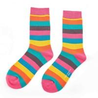 Socks (4-7) - Bright Rainbow - SKS154