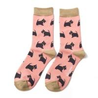 Socks (4-7) - Scotties - SKS185 - (Dusky Pink)