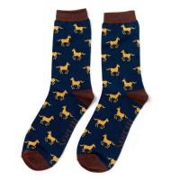 Socks (7-11) - Horses - MH177 (Navy)