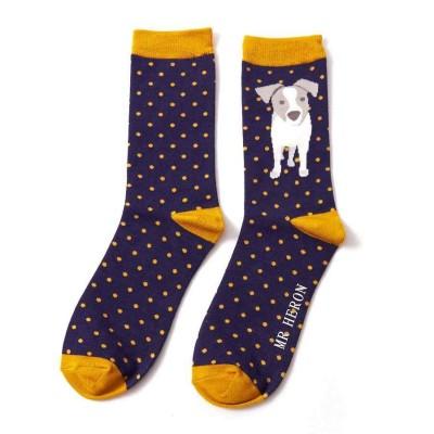 Socks (7-11) - Puppy - MH145 (Navy)