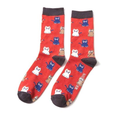 Socks (7-11) - Little Kitties MH146 (Orange)