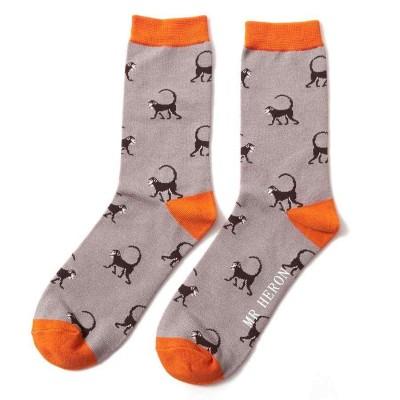 Socks (7-11) - Monkeys - SKS175 - (Grey)