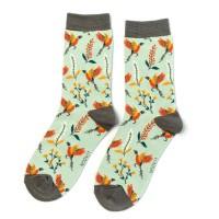 Socks (4-7) - Pheasants & Flowers - SKS209