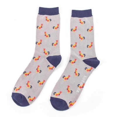 Socks (7-11) - Roosters- MH135 - Grey