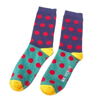 Socks (7-11) - Spots - MH110 (Blue)