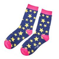 Socks (4-7) - Stars-SKS127 - Navy