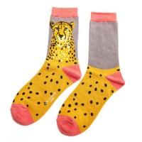 Socks (4-7) - Wild Cheetah-19031 - Grey
