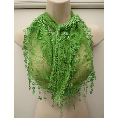 Crochet Style Triangle (Deep Lime)