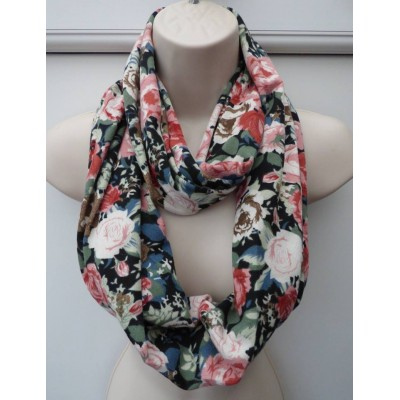 Vintage Floral Snood (Black/Multi)