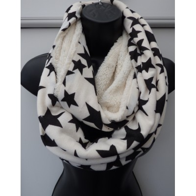 Black & White Star Snood