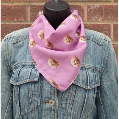 Cotton Cat Square (Purple)