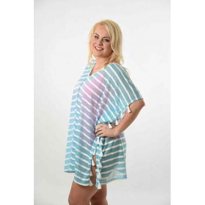 SCU Sheer Blue Striped (8440)