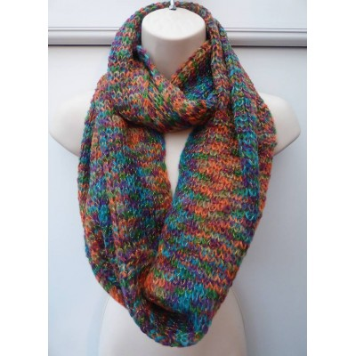 Gold Thread Rainbow Knit Snood