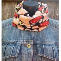 Close Fit Owls Snood 2618 (Pink Apricot)