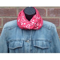 Close Fit Silver Hearts Snood