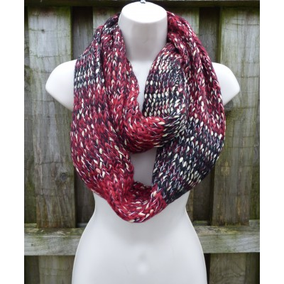 Gold Thread Knit Snood (Wine)