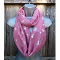 Silver Butterfly Snood