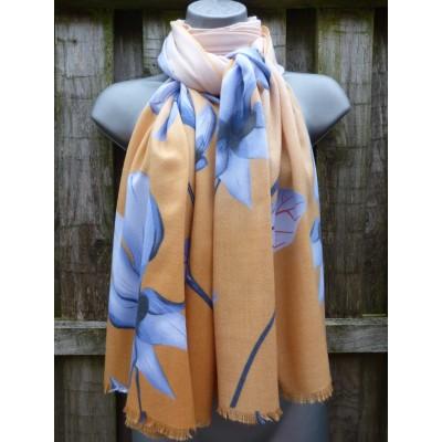 Winter Magnolia BG734854 (Mustard / Blue)