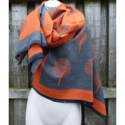 Cashmere Mix Reversible Mulberry Tree Wrap