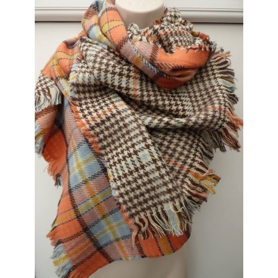 Double Sided Tartan Wrap 2126 (Orange)