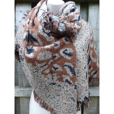 Asymmetric Animal Print Wrap