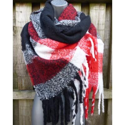 Red, Black & White Wrap (80550)