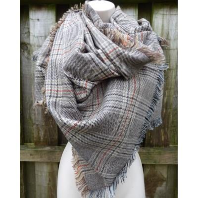 Brown Tones Tweed Wrap