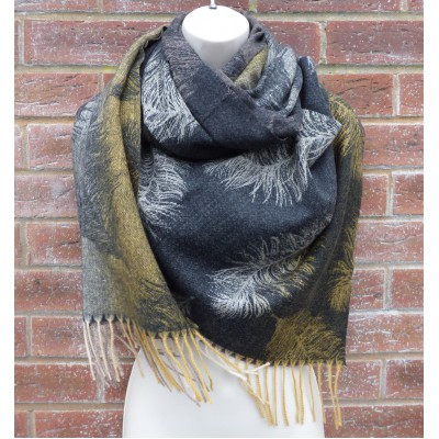 Cashmere Mix Feathers Wrap (YC14)