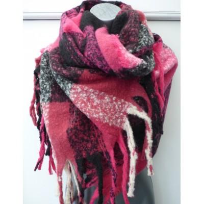 Hot Pink & Black Check Wrap