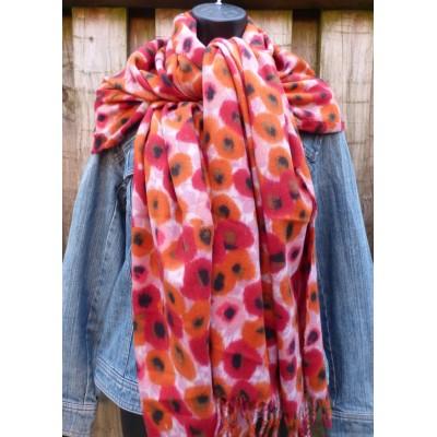 Little Poppies Wrap 9429 (Red / Orange)