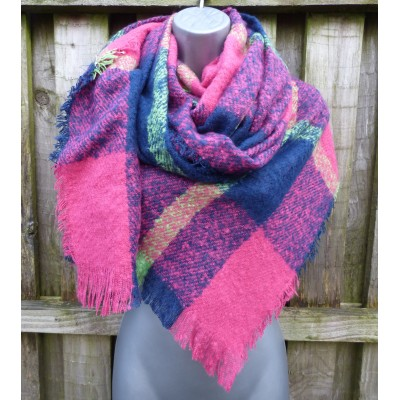 Navy, Hot Pink & Lime Wrap