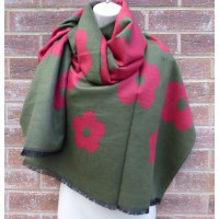 Reversible Poppy Wrap 9448 (Red / Military Green)