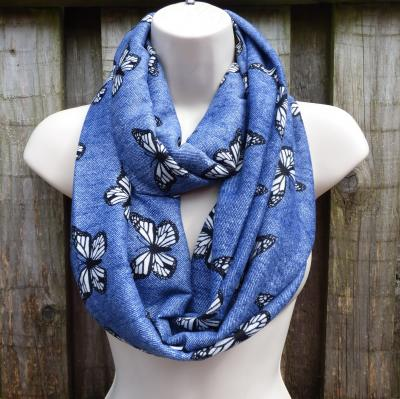 Denim Blue Butterfly Snood